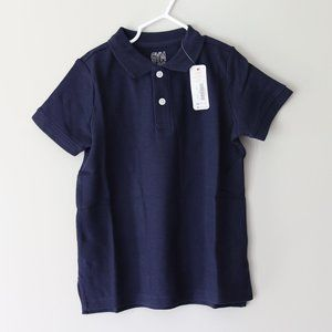 Collared Navy Blue Uniform Polo Shirt XS Boy Shirt